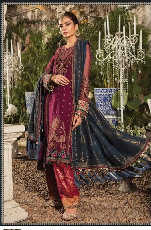 MARIA.B MBROIDERED 2019 LUXURY CHIFFON EID COLLECTION
