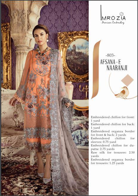 IMROZIA LUXURY CHIFFON COLLECTION 2019