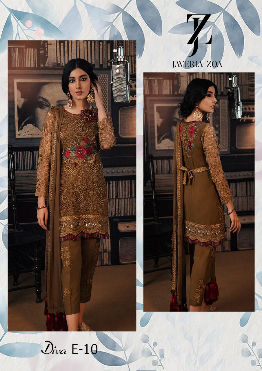 JAVERIA ZOA LUXURY CHIFFON COLLECTION 2019