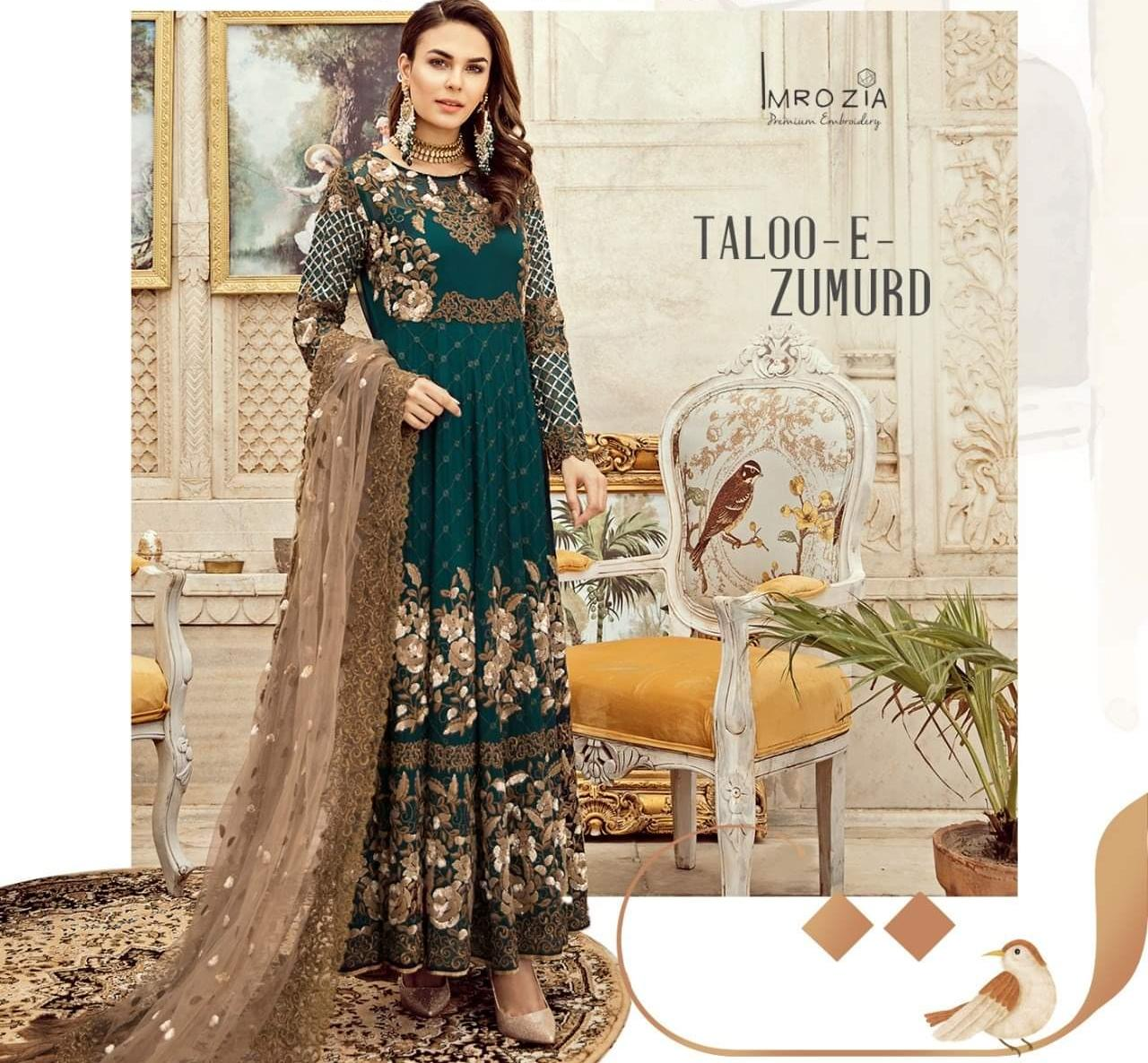 IMROZIA PREMIUM EMBROIDERED CHIFFON