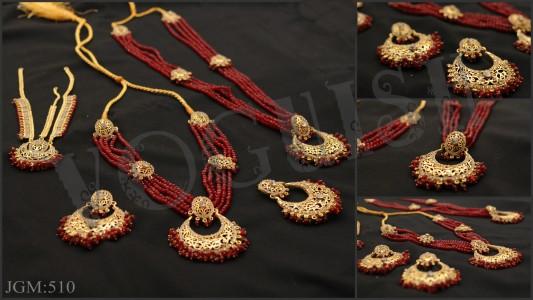 Laali Bridal Set (Gulband,Maala,Matha Patti & Earrings)