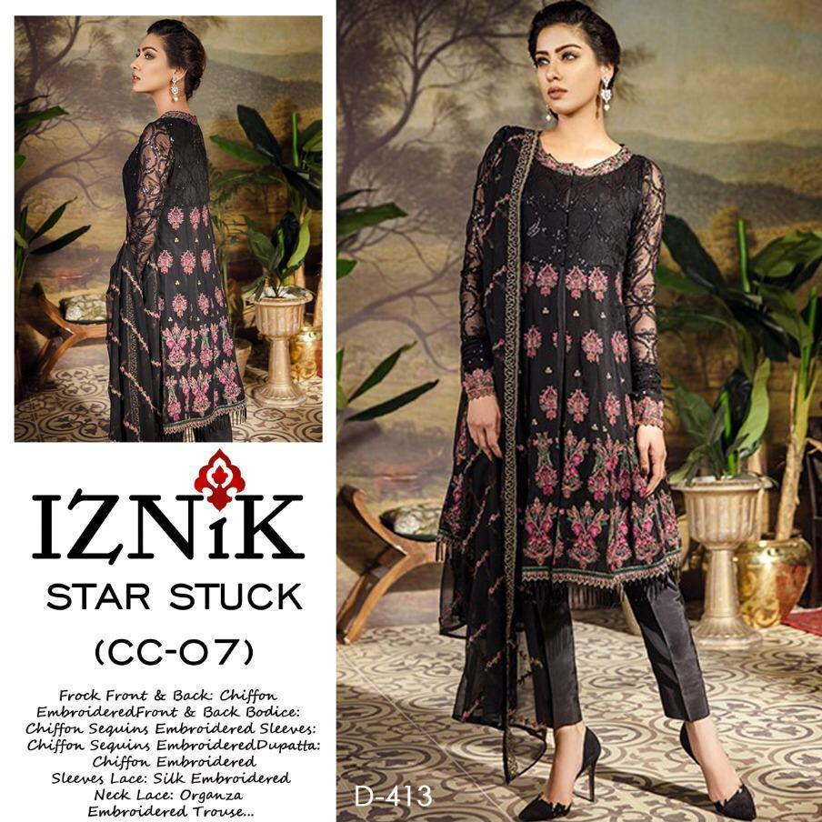 Iznik - Luxury Chiffon Heavy Embroidered