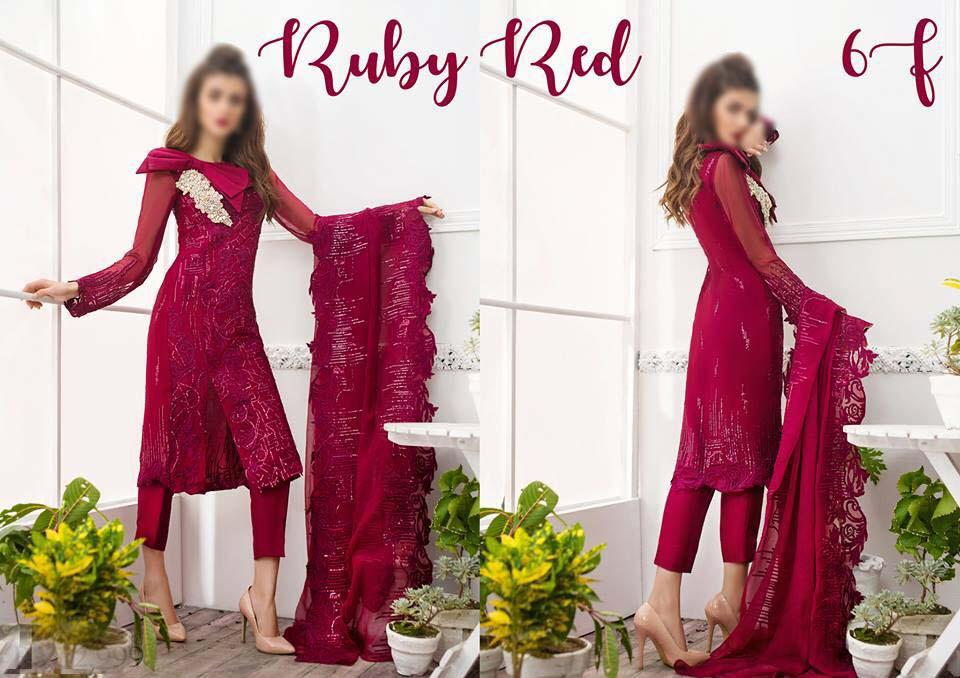 Ruby Red - Chiffon 3pcs