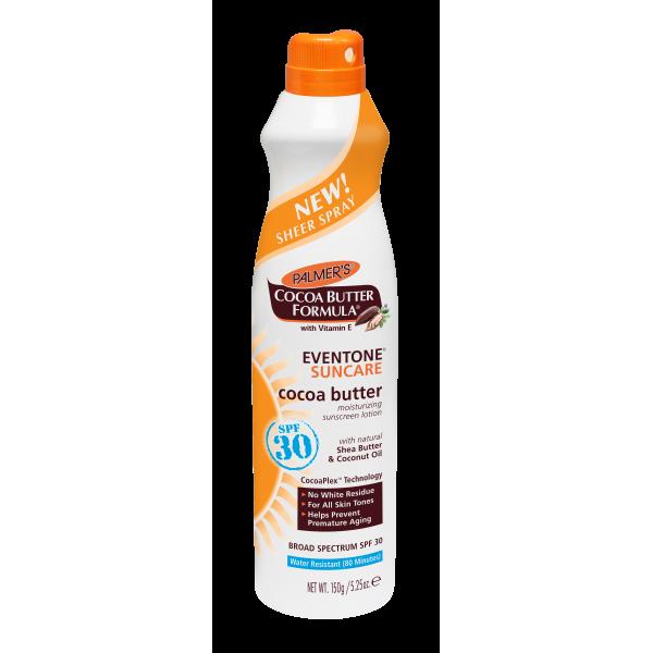 Eventone Suncare Cocoa Butter Moisturizing Sunscreen Sheer Spray SPF 30